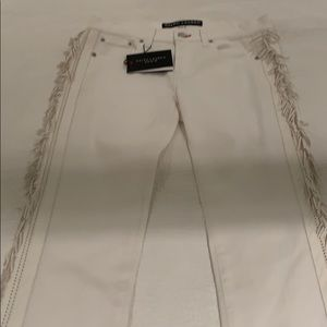 NWT RALPH LAUREN BLACK LABEL DENIM WHITE JEANS